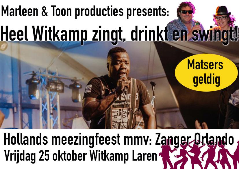 Heel Witkamp zingt, drink en swingt